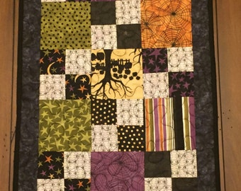 Witches Brew Quilted Halloween Table Runner