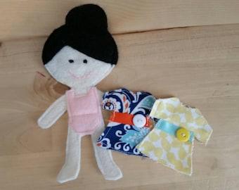 Mia Felt Paper Doll
