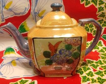 Vintage hand painted Japanese lusterware teapot