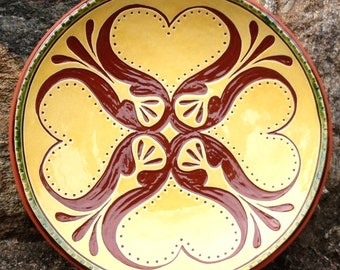 Hearts and Tulips - Pennsylvania Redware -  SG451