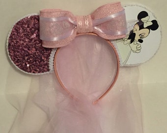 Bridal Minnie Inspired Mouse Ears