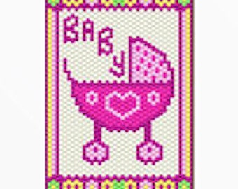 Baby Girl bead banner pattern