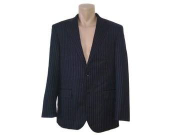 Vintage Piet Zoomers wool men blazer Stanley & Morgan N. Y. Tailors striped