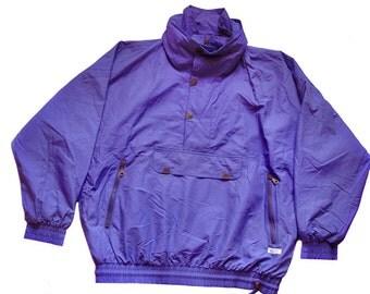 Vintage Etirel le style sportif jacket size L purple hooded Track Jacket sport