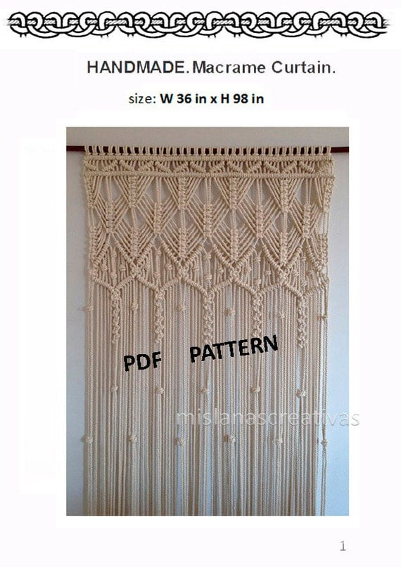 pdf instructions macrame curtain handmade macrame wall