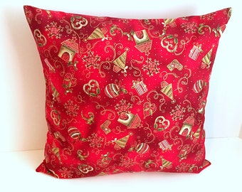 Metallic Christmas Pillow Cover 16 x 16