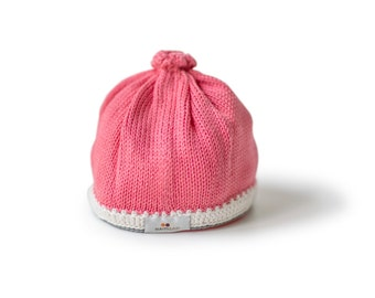 Caribbean Baby Hat: Guava