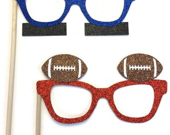 Photo Booth Props- Football Glasses-Super Bowl Photo Booth