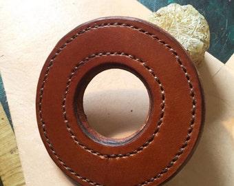Hand stitched leather tsuba for Kendo Shinai