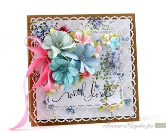 Handmade Card / With Love Card / Glückwunschkarten