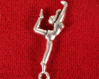 "BULK! 30pc ""gymnast"" charms in antique silver (BC238B)"