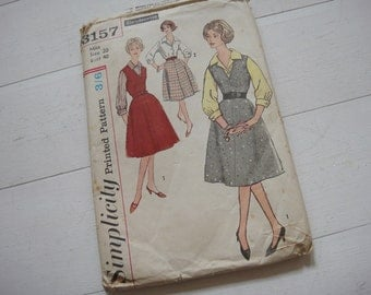 Skirt and Blouse Pattern, Circa 1970, Simplicity 3157, Size 20, Bust 40""