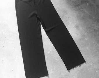 Vintage Stretch Ribbed Wide Leg Pant