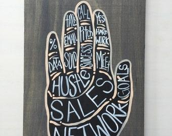 Sales Wood Plaque