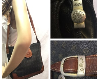Kenza by KU, Italian, Purse, Monogram and Leather ,Shoulder Bag,bags purses