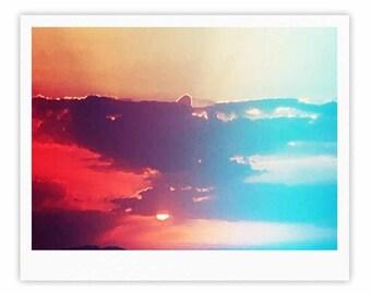 "Gallery Print - Orange Teal Sky Li Zamperini ""Summer"" LZ1042A Great Gift Idea!"
