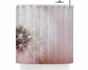 "Shower Curtain - Chelsea Victoria  ""Dandelion Dreams"" Great Gift - Matches Bath Mat!"
