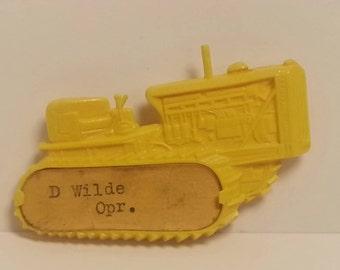 Free Shipping!! Caterpillar Bulldozer Operator Name Tag
