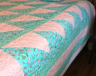 Poodles & Purses! Twin quilt and pillowcase