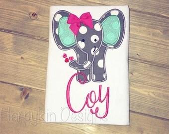 Valentines elephant shirt