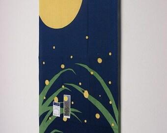 Tenugui Japanese Hand Towel Firefly Design