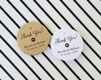 Wedding Favor Tags, Thank You Wedding Tags, Rustic Style Tags, Custom Thank You Tags, Kraft Favor Tags