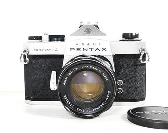 Asahi Pentax spotmatic SP 35mm SLR camera - With 50mm 1.8 lens - vintage camera