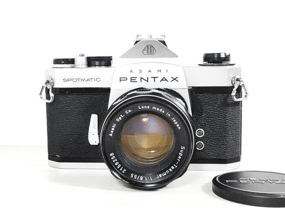Asahi Pentax spotmatic SP 35mm SLR camera - With 50mm 1.8 lens - vintage camera