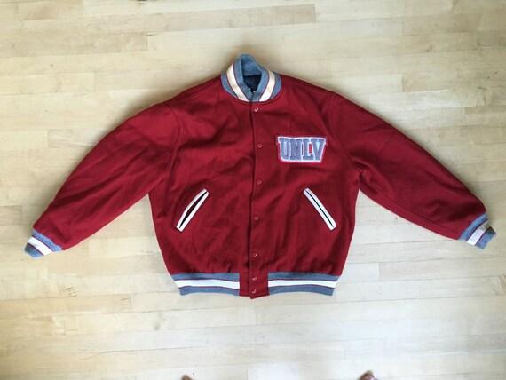 vintage unlv lettermans jacket neff xl