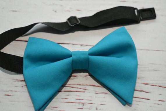 Turquoise floppy style bow tie  for Baby, Toddlers and Boys (Kids Bow Ties) with Braces/ Suspenders
