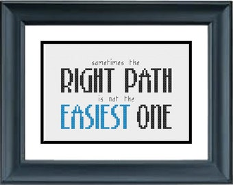 Sometimes the Easiest Path is not the Right One - Pocahontas - Disney - PDF Cross-Stitch Pattern