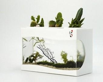 Aquatic World II Aquarium Planter (no LED LIGHT), fish tank, plant, green, decor, gift, creative, housewares