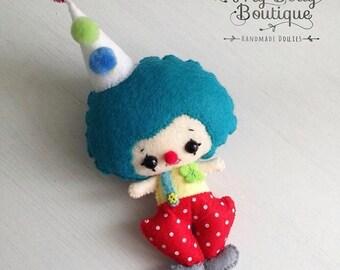 Cute Clown Plush Felt Doll