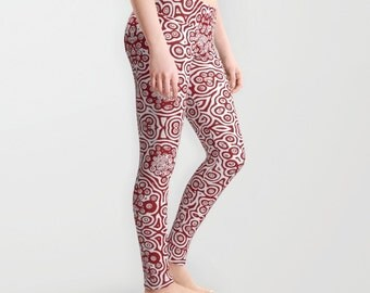 Life is in the blood, Red cells Yoga pants. 瑜珈裤