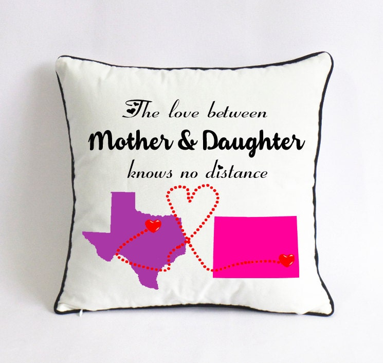 long distance mother daughter pillow case-Christmas gift from