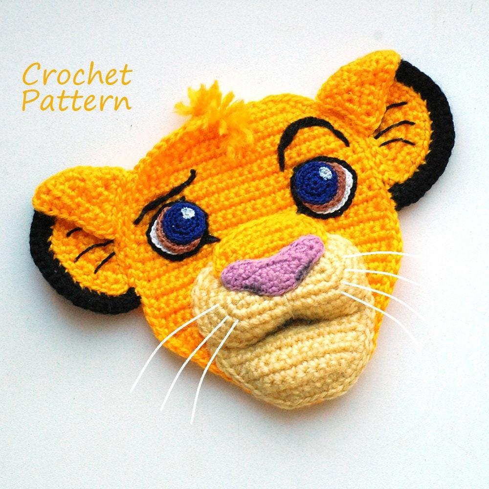 Lion King Amigurumi : Crochet Pattern. Applique. Simba The Lion King