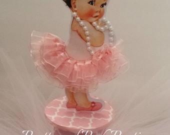 Precious Little Pink TuTu Baby Centerpiece