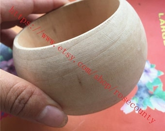 2pcs 81x50mm original round bangle wood bracelets findings--unfinished