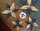 Gold and Black Sports Teams Set Of 4 Paper Layered Lily Flower Wedding Decoration Favor Card Making Invitation