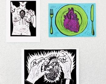 Heartbreak Print Trio