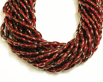 Garnet Rice Shape Beads