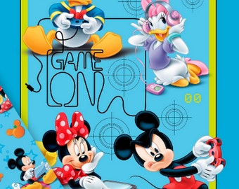 Quilt Kit Disney Minnie Mickey Mouse Playtime Fabric