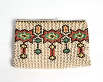 Vintage purse, Handmade portfolio, Folding billfold, Luxury gift, Vintage folder, Small wallet