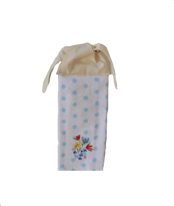 Floral hand towel kitchen towel tie on towel by suesakornshop for How to tie towels in bathroom