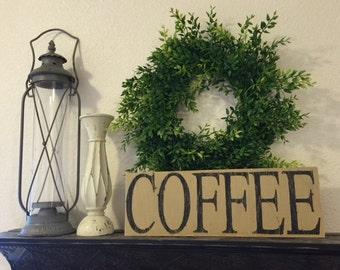 Coffee Rustic Sign