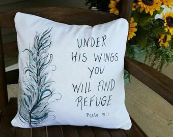 bible verse pillow etsy. Black Bedroom Furniture Sets. Home Design Ideas