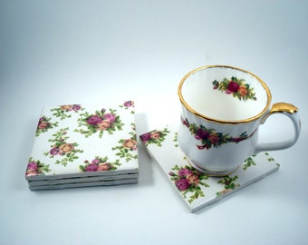 Old Country Roses Coasters - Great Housewarming or Hostess Gift