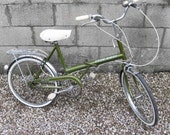 Raleigh Stowaway Shopper Bike Town Cycle folding Green Vintage 1970s 20