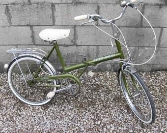 Raleigh Stowaway Shopper Bike Town Cycle folding Green Vintage 1970s 20