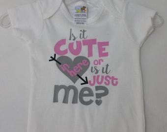 Cute in Here Infant bodysuit